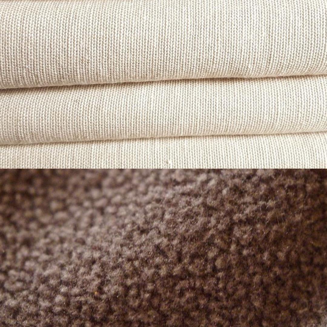 100% Natural Linen vs Fleece Fabric Dog Beds